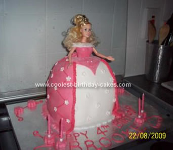 Homemade Princess Birthday Cake
