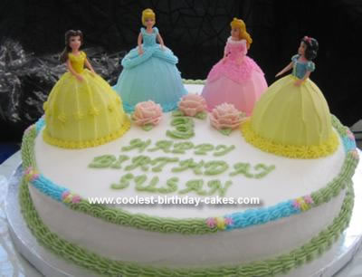 I Made This Princess Cake For My Daughters 3rd Birthday She Is So Into The Disney Princesses And Couldnt Decide On Just One