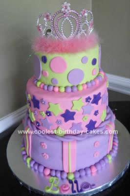 Homemade Princess Cake Design