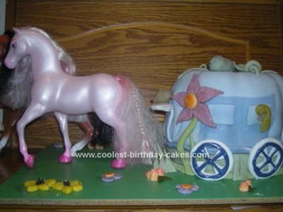 Homemade Princess Carriage Birthday Cake
