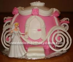 Homemade Princess Carriage Cake