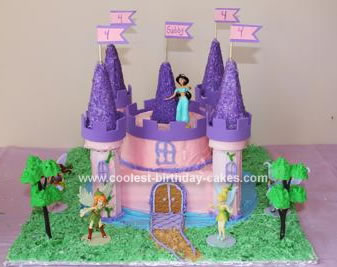 Phenomenal Coolest Princess Castle Birthday Cake Funny Birthday Cards Online Alyptdamsfinfo