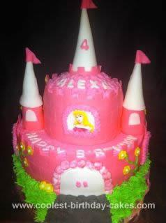Homemade Princess Castle Birthday Cake