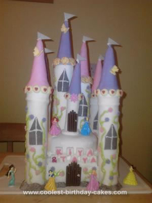My Little Twin Sisters Wanted Me To Make A Princess Castle Cake For Their 7th Birthday I Had Previously Done Before So Thats What They