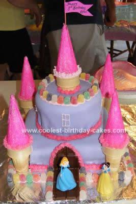 Homemade Princess Castle Cake Design