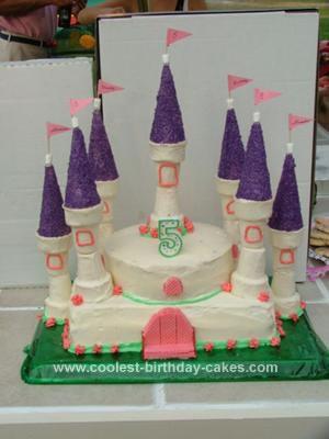 Homemade  Princess Castle Cake Idea
