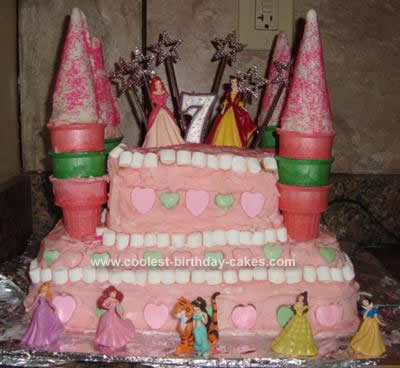 My Friends Daughter Was Turning 7 And Wanted A Princess Castle Theme Cake We Went Online Looked On This Site Saw Many Cakes