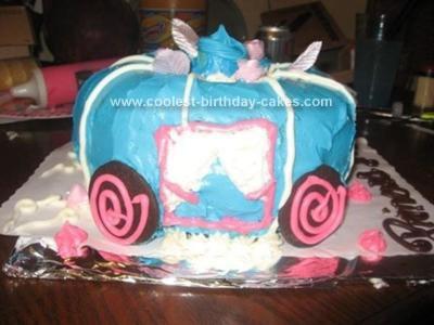Homemade Princess Coach Cake