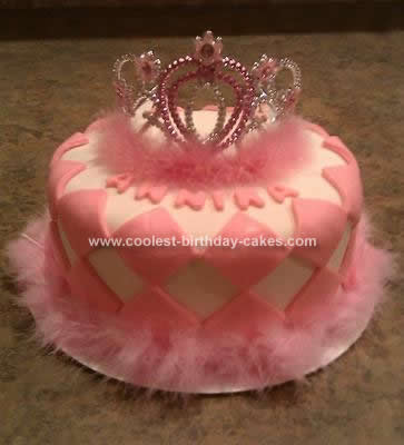 Coolest Princess Crown Birthday Cake 14