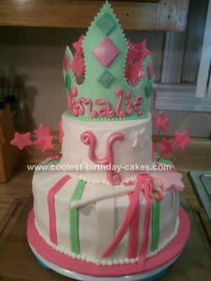 Homemade Princess Crown Tiered Cake