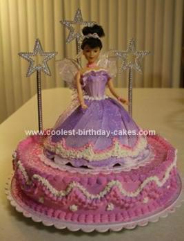 Fairy Purple Princess Doll Cake