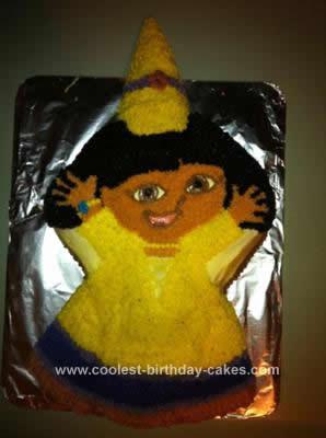 Homemade Princess Dora Cake