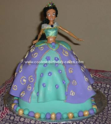 Homemade Princess Jasmine Birthday Cake