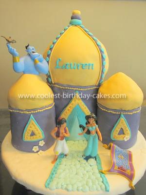 Coolest Princess Jasmine's Arabian Castle Cake