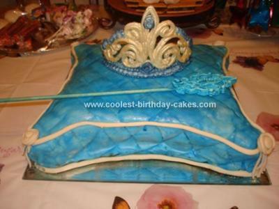 Homemade Princess Pillow Cake