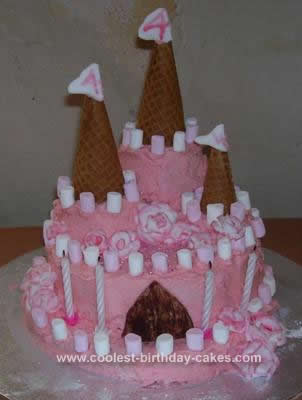Homemade Princess Rose Palace (gluten free) Cake