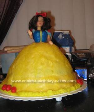 Homemade Princess Snow White Cake