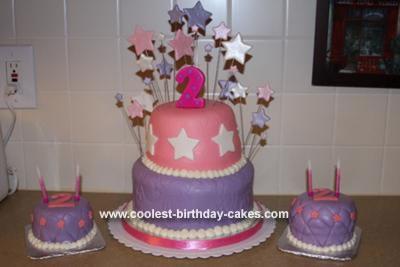 Homemade Princess Stars Cake