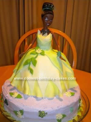 Homemade Princess Tiana Birthday Cake