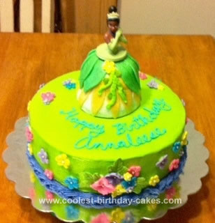 Homemade Princess Tiana Cake