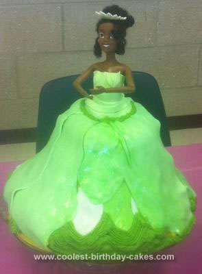 Homemade Princess Tiana Doll Cake