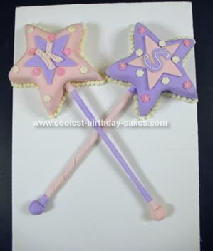 Homemade Princess Wands Cake