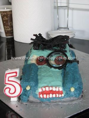 Professor Z Cars 2 Birthday Cake
