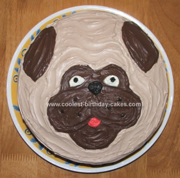 Homemade Pug Cake