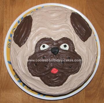 Homemade Pug Cake