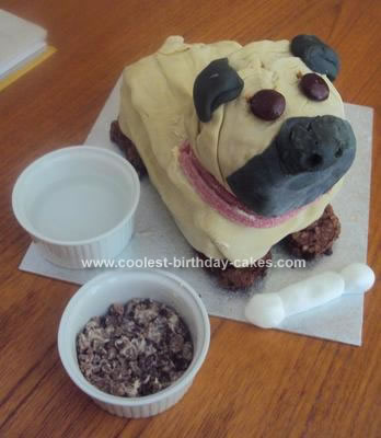 Homemade Pug Dog Cake