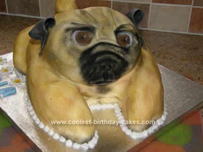 Sensational Coolest Pug Dog Cake Funny Birthday Cards Online Bapapcheapnameinfo