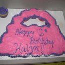 Homemade  Pull-Apart Purse Cupcake Cake
