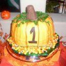 Homemade Pumpkin and Mini Pumpkin Cake