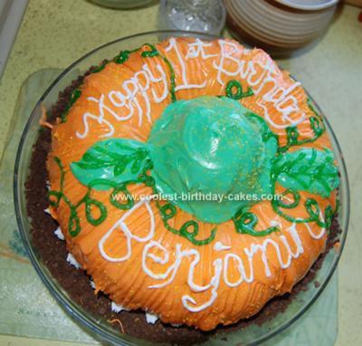 Homemade Pumpkin Birthday Cake