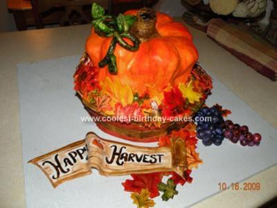 Happy Harvest Pumpkin Cake