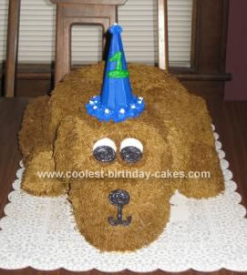 Homemade Puppy Birthday Cake
