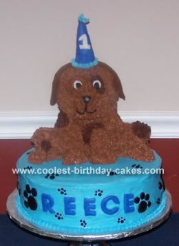 I Made This Puppy Dog Cake For My Sons First Birthday Since He Loves Our Two Pet Dogs