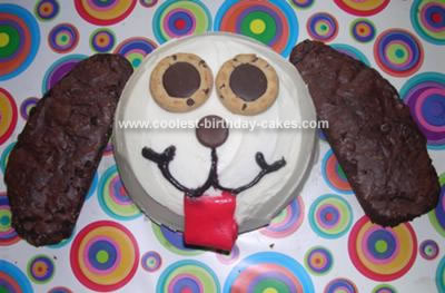 Homemade Puppy Dog Cake