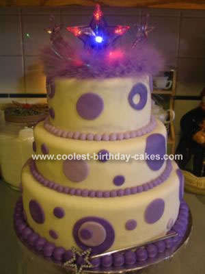 Purple Dot Tiara Cake