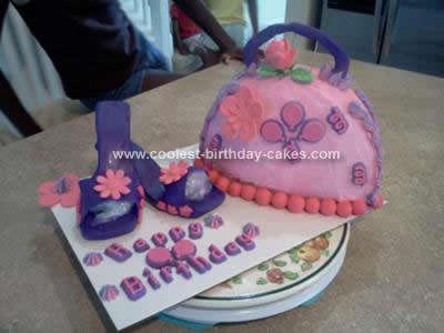 Homemade Purse and Shoes Cake
