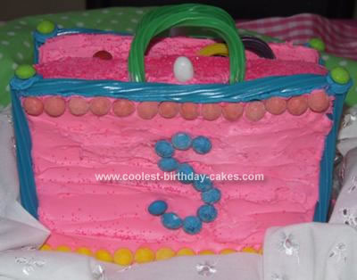Homemade Purse Birthday Cake