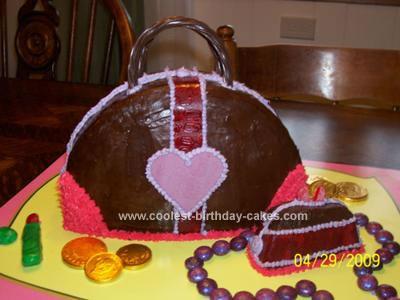 Homemade Purse and Coin Purse Birthday Cake