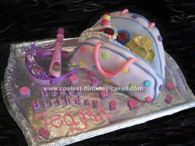 Homemade  Purse Birthday Cake Design
