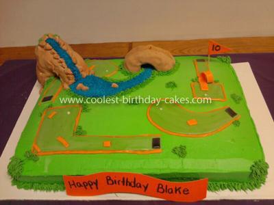 Coolest Putt Putt Golf Cake