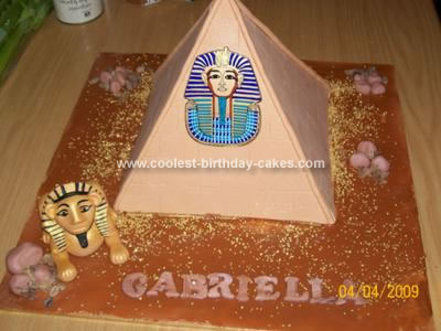 Homemade Pyramid Birthday Cake