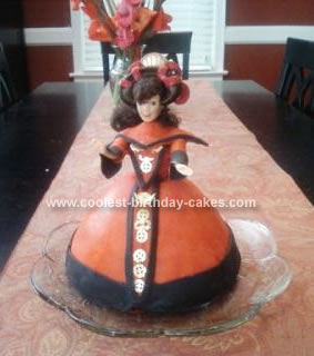 Homemade Queen Amidala Birthday Cake
