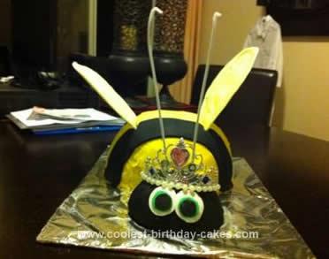 Homemade Queen Bee Cake