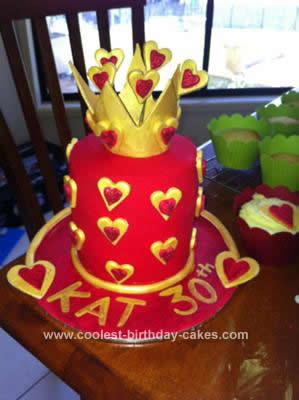 Homemade Queen of Hearts Cake