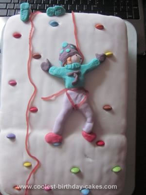 Homemade Quickest Climbing Wall Cake