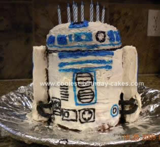 Homemade  R2 D2 Cake